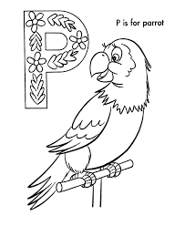 abc alphabet coloring sheets abc parrot animals coloring