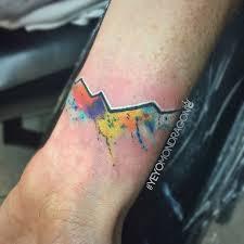 yeyo mondragon custom watercolor colorado mountain tattoo