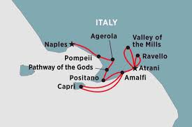 Capri Italy Map by Spirit Of Amalfi Italy Tours Peregrine Adventures Au