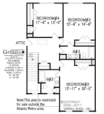 2nd Floor House Plan by Auburn House Plan Active House Plans