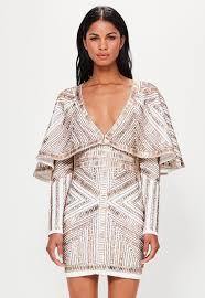 embellished dress peace gold embellished kimono sleeve wrap dress missguided