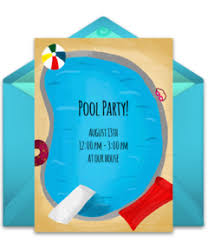 pool party invitations free summer party online invitations punchbowl