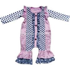 cotton ruffle romper ruffle baby baby pajamas gown infant