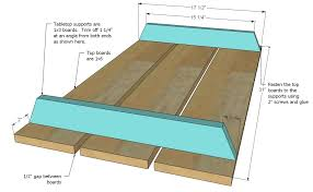 Plans For Picnic Table With Attached Benches by Ana White Preschool Picnic Table Diy Projects
