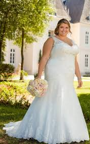 silver plus size bridesmaid dresses lace fit and flare plus size wedding gown with silver beading
