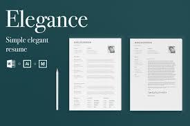 Elegance by Elegance Simple Elegant Resume Resume Templates Creative Market