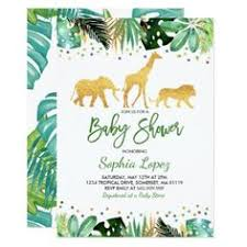 jungle baby shower invitation tropical baby shower shower