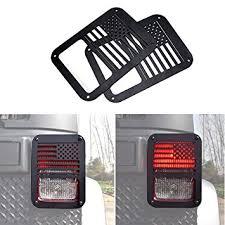 Jeep Jk Tail Light Covers Amazon Com Icars Usa Flag Rear Tail Lamp Light Cover Trim Guards