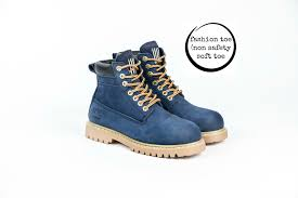 womens work boots navy blue fashion work boots she wear