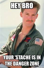Top Gun Hat Meme - zone stache