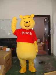 2016 mascot costume winnie the pooh cartoon clothing size