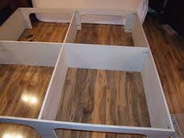 Diy King Platform Bed Plans by Diy King Platform Bed Started King Size Bed Frame Plans Platform