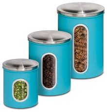 blue kitchen canister set metal kitchen storage canisters set of 3 contemporary kitchen
