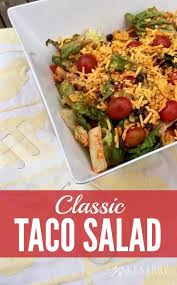 taco salad recipe a classic side dish idea