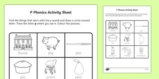 phonics activity sheet irish worksheet