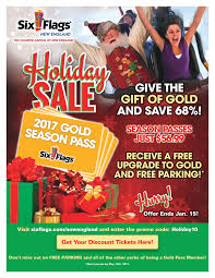 Free Tickets To Six Flags Holiday Deal From Six Flags New England Dighton Pto