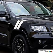jeep grand cherokee stickers amazon com 2x racing fender stripes decal sticker vinyl compatible