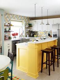 yellow kitchen islands