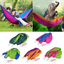 double hammock camping survival hammock parachute cloth portable