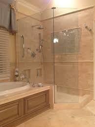 walk in shower with tub custom walk in stone shower with beautiful accent tile shampoo