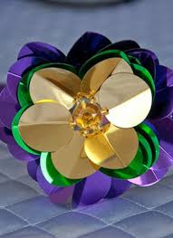 mardi gras headbands purple gold green mardi gras flower sequin headband 43524