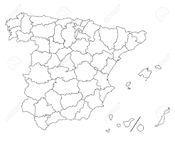 Detailed Map Of Spain by Hi Detailed Map Of Spain Royalty Free Cliparts Vectors And Stock