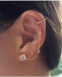 cuff earrings sweet deal on ear cuff gold chain earrings dainty earrings gold