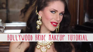 bollywood bride makeup tutorial how to create a red u0026 gold desi