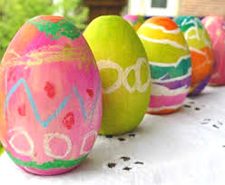 painted wooden easter eggs how to paint wooden easter eggs pastel watercolor resist