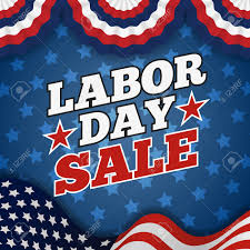 Usa Flag For Sale Labor Day Sale Promotion Advertising Banner Design American