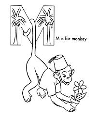 abc alphabet coloring sheets abc monkey animals coloring