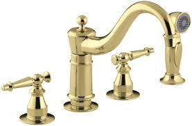 kohler antique three hole kitchen sink faucet with 8 5 8