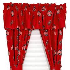ohio state desk accessories ncaa ohio state curtains cotton valance buckeyes window treatments