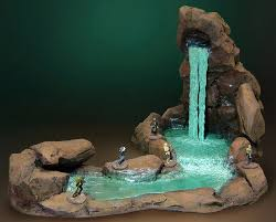 table top water fall ludstuff tabletop gaming making a mammoth cave pt 4