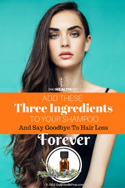 Does Diabetes Cause Hair Loss Diy Shampoo For Hair Loss All You Need Is Three Simple Ingredients