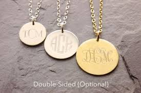 Monogram Disc Necklace Monogram Disc Necklace In Gold Or Silver By Megu U0027s Attic