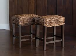kitchen island counter stools amazon com bird rock home seagrass backless counter stool set