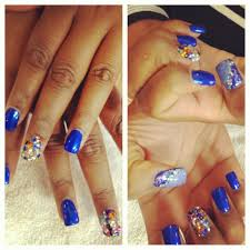 stiletto nails and rhinestones with designs yelp