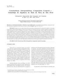 Farrow And Ball Nantes Características Antropométricas Composición Corporal Y Somatotipo