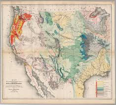 Western United States Map Map Illustrating The General Geological Features Of The Country