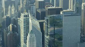 Aerial close up metropolis tokyo city skyscrapers dusk structures
