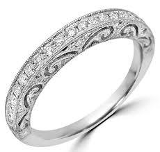 e wedding bands vintage deco diamond vs e wedding band ring 18k white