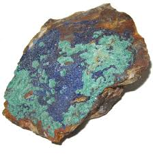 natural turquoise stone azurite cluster 01 blue gemstone precious green malachite natural