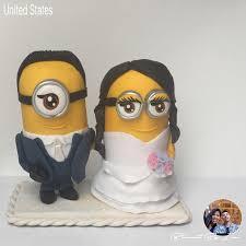 minion wedding cake topper minions wedding cake topper cold porcelain 2541814 weddbook
