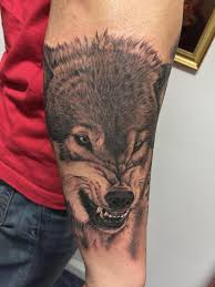 bob tyrrells night gallery tattoos animal snarling wolf tattoo