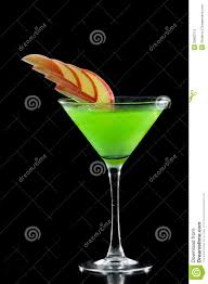 green apple martini stock image image of restaurant 33883713