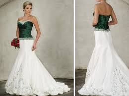 wedding dresses with green accents wedding dresses