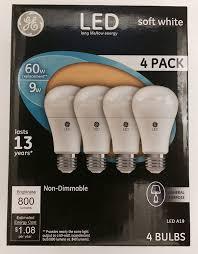 Led Light Bulbs Ge by Ge Led 9w 4 Pack Amazon Com