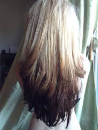 blonde and burgundy hairstyles reverse ombre hair with perfect fades into browns and blacks