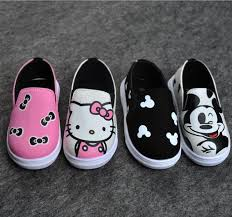 girls boys cartoon sneaker shoes korean kids kitty mickey mouse